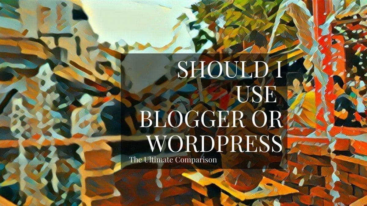 """Should I use WordPress or Blogger (also known as Blogspot)?"" is one of the frequently asked questions from newbies."