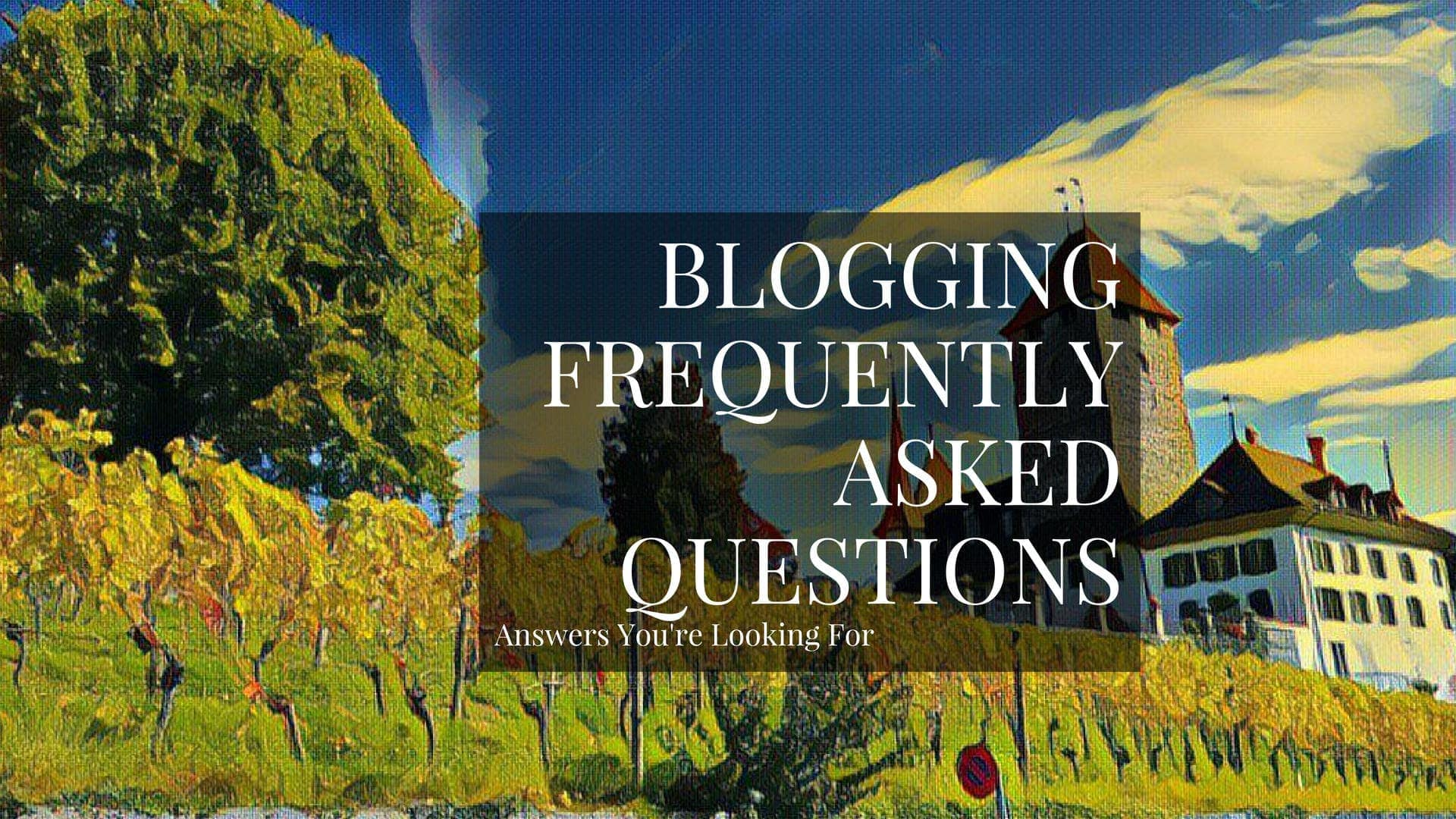 This is my content marketing, social media and blogging FAQ.