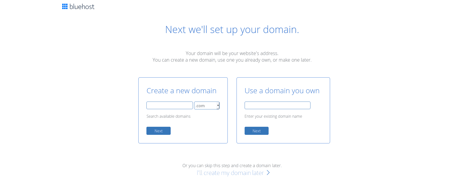 Choose a domain name for your site