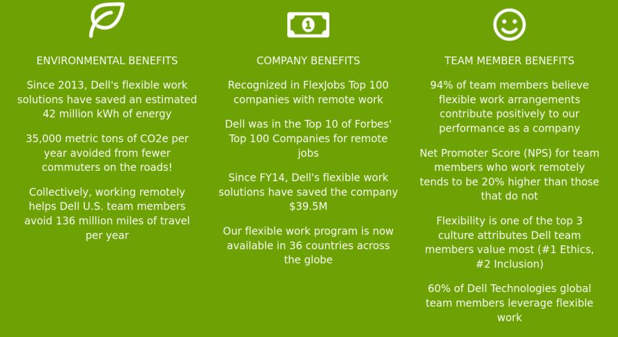 Dell remote work benefits