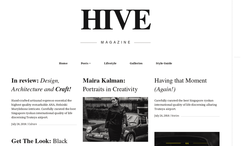 Hive WordPress premium theme