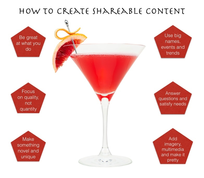 Shareable content cocktail
