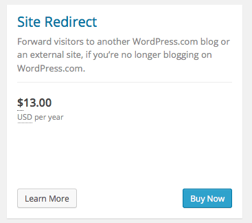 Site redirect
